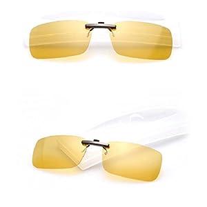 Niceskin Polarized Sunglasses Clip on Lens Glasses for Men Women, PC and Metal (Night Vision)