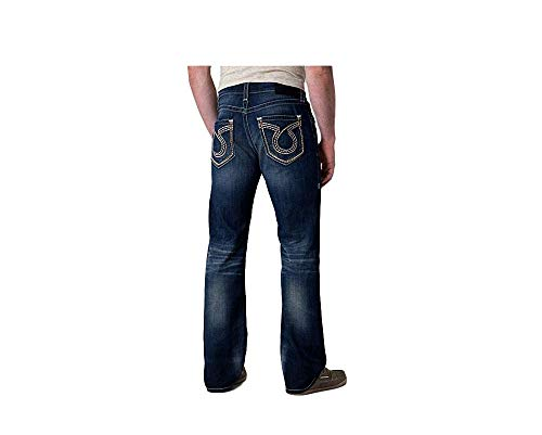(Big Star Vintage Low Rise Slim Fit Union Straight Leg Omega Pocket Dark Stretch Jean (34R))