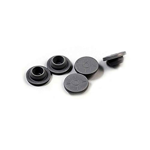 (20mm Gray Elastomer Rubber Stoppers Chlorobutyl Rubber Stoppers for Vials And Serum Bottles (200Pc))