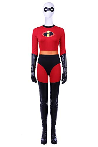 Boomtrader Women's Halloween Costumes Mrs Incredible Role Play Deluxe Muscle for Girls Cosplay Costume