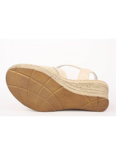 Beige Damen 37 MELLUSO Sandalen Puder beige PqfEwxw8C1