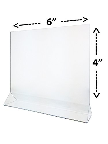 gn Holder 6x4 Clear Acrylic Table Top Tent Style Top Loading Sold in Lots of 25 ()