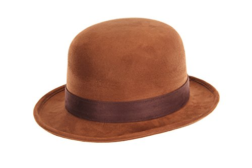 Bowler Hat Halloween Costume (elope Derby Bowler Hat, Brown, One)