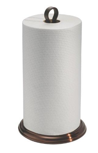 InterDesign York Paper Towel Holder for Kitchen Countertops – Metal Standing Holder – Split Finish