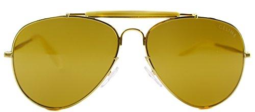 7099986961 Celine Polarized Gold Aviator Sunglasses White pilot 41490 S Kim kardashian  celebrity - Buy Online in Qatar.