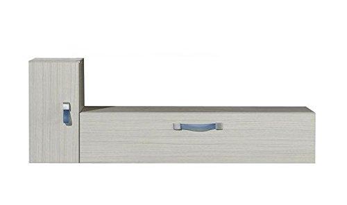 Kinderzimmer - Hängeschrank Felipe 11, Farbe: Weiß - Abmessungen: 100 x 36 x 30 cm (B x H x T)