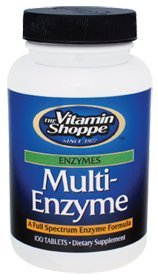 Vitamin Shoppe - Multi Enzyme, 100 tablets