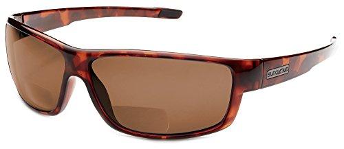 Suncloud Voucher Polarized Bi-Focal Reading Sunglasses in Tortoise w/ Brown Lens - Voucher Sunglasses