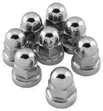 Chrome Cylinder Base Nuts - Colony Cylinder Base Nut Kit 7813-8