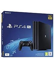 Sony PlayStation 4 Pro 1 To, Avec 1 Manette Sans Fil Dualshock 4 V2, Châssis G, Noir (Jet Black), Art : 9752316
