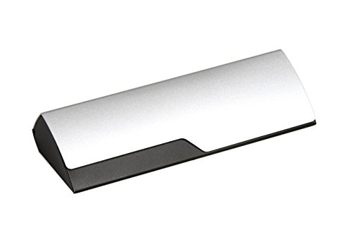 Aluminum Eyeglass Case for Small to Medium Frames in Black/Silver