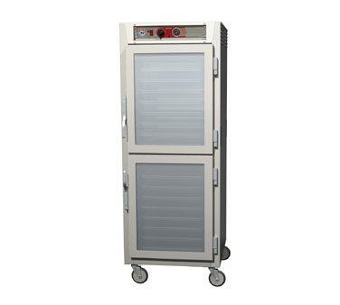 - Metro C569-NDC-U Heated Holding Cabinet Dutch 2 Glass Doors Full Height Universal Slides 6 Series