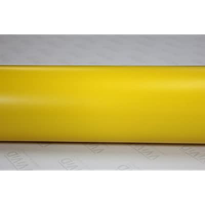 VViViD Matte Yellow Vinyl Wrap Film Roll for DIY No Mess Easy to Install Air-Release Adhesive (1ft x 5ft): Automotive