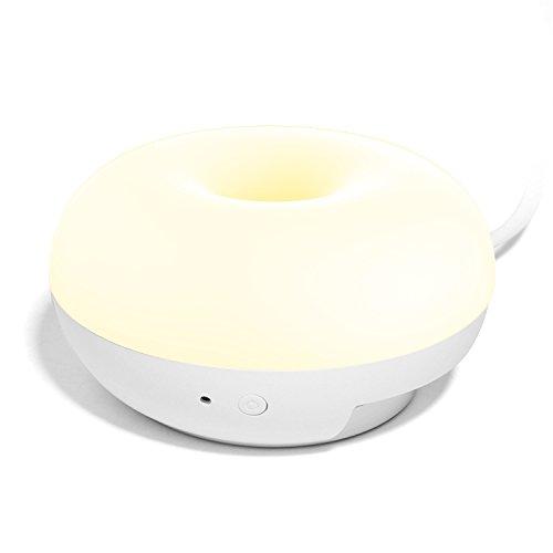 Night Light Desktop Charger, Jelly Comb 1W LED Seenda Night Light Lamp with Smart Light Sensor, 2 USB Ports for...