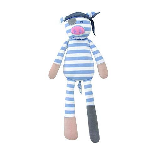 Organic Farm Buddies Plush Toy, Pirate Pig ()