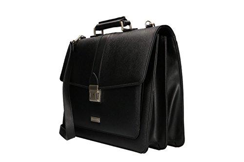 Cartella professionale PIERRE CARDIN borsa ufficio nero portadocumenti VH63