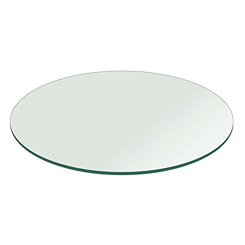 Fab Glass and Mirror 24RT12THFLTE Round Glass Table Top, 24 Inch, Clear (Round Glass Table Top 24)