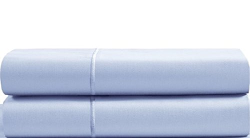 - CHATEAU HOME COLLECTION Luxury 100% Egyptian Cotton 800-Thread-Count Egyptian Cotton Deep Pocket Sateen Weave, Set of 2 Standard Pillowcases - Blue