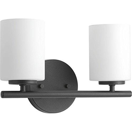 Progress Lighting P2158-31 Replay Black Two-Light Bath & Vanity,