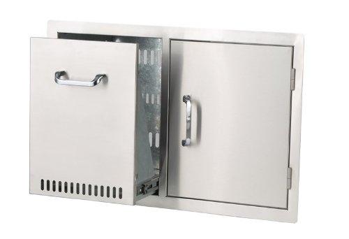 Bull Outdoor Products 65784 Door/Propane Drawer Combo, Stainless Steel by Bull Outdoor Products