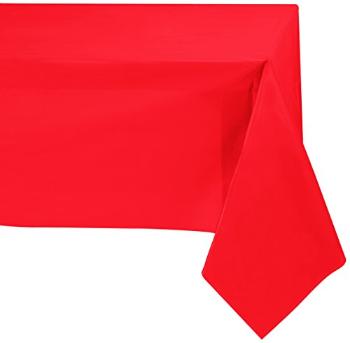 Jubilee 54-Inch-By-108-Inch PEVA Table Cover, 4 Count, Red