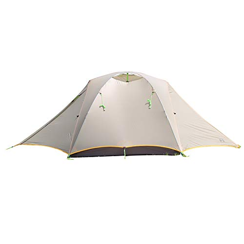 (Asta Gear UFO 2 Person 3 Season Coated Silicon Tent Double-Decker Hiking Camping Lightweight Tent Weatherproof Snow)