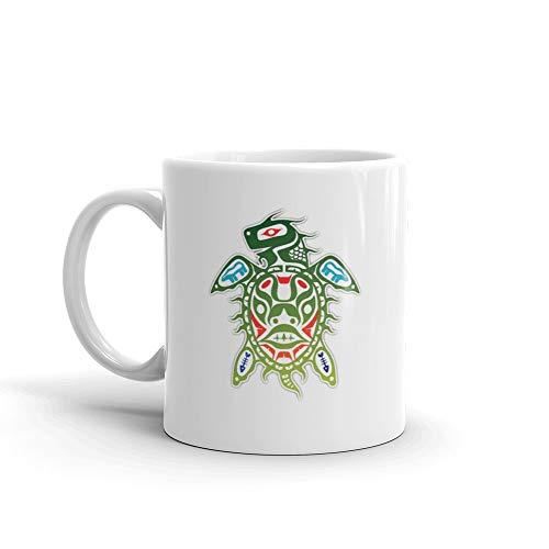 Inuit Turtle Mug 11 Oz White Ceramic
