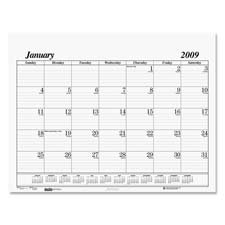 HOD126 - House Of Doolittle One-Color Dated Monthly Desk Pad Calendar Refill