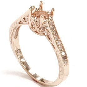 .20CT Diamond Rose Gold Engagement Ring Setting Vintage