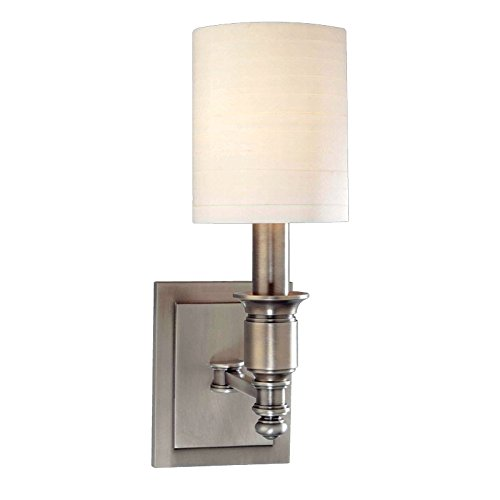 Hudson Valley Lighting 7501-AN One Light Wall Sconce from The Whitney Collection, 1, Antique Nickel - Hudson Valley Lighting Nickel Antique Sconce