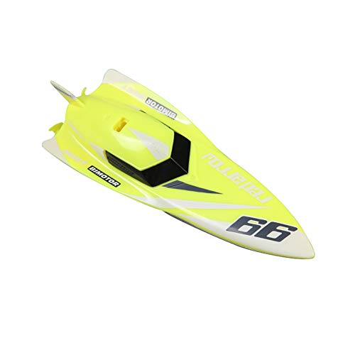 3312M 2.4G RC Barco Teledirigido Racing Impermeable Remoto Aire Libre Mini Speedboat Juguetes para Niños,Yellow