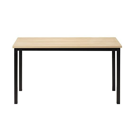 """CUBOC 47"""" Large Size Modern Computer Desk Long Office Desk Writing Desk, Workstation Table for Home Office, Beech - 47""""L x 23.7''H wide desktop provide enough space to keep a computer, laptop and scatter things around Clean, minimalist design with an open-air style gives your office or home office a sleek, contemporary look 0.98"""" thick desktop is waterproof and anti- scratch, assuring you that maintaining it in excellent condition will be a piece of cake - writing-desks, living-room-furniture, living-room - 318ymT%2B6F4L. SS570  -"""