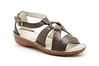 fd7322923f86 CLARKS LADIES PROSPECT BAY EBONY BROWN LEATHER SANDALS SHOES UK SIZE ...
