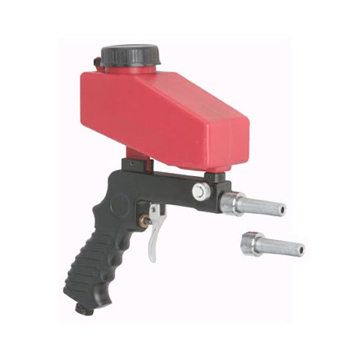 Gravity Feed Portable Pneumatic Sand Blaster Gun with Spare Blaster Tip