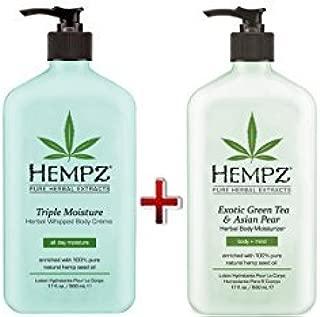 product image for Hempz Green Tea & Asian Pear Body Moisturizer 17oz & Triple Herbal Whipped Body Moisturizer Cr?me 17oz by Hempz