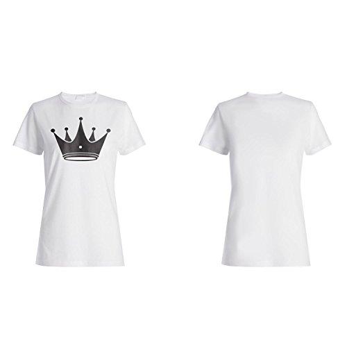 Krone König Königin Kunst lustige Neuheit Damen T-shirt a555f