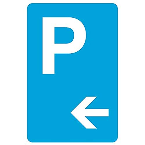 """Diuangfoong Parking Left Arrow Picture Blue White Car Lot Street Business Office Aluminum Metal Tin 12""""x18"""" Sign Plate from Diuangfoong"""