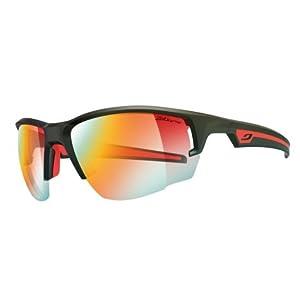 Julbo Venturi Performance Sunglasses, Matte Black/Red, Zebra Light Fire Lens, Medium
