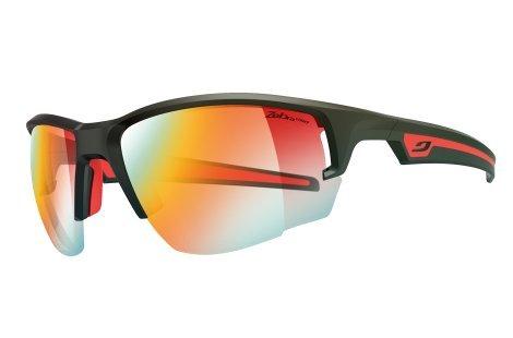 Julbo Venturi Performance Sunglasses, Matte Black/Red, Zebra Light Fire Lens, - Cycling Photochromic Sunglasses
