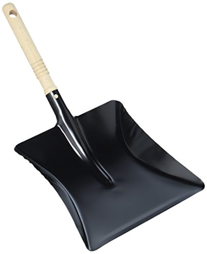 Albert Turk Kayser Gmbh Dustpan Lacquered Length 220 X Width 230 Mm Black Wax-Polished Handle