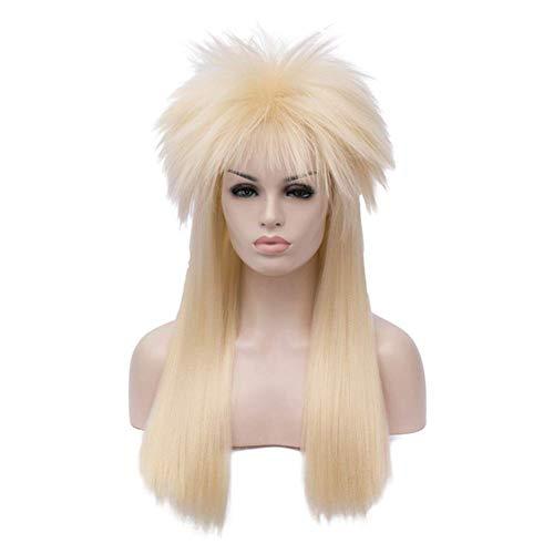 Kadiya Long Lt.Blonde Fluffy Hair 80s Punk Rocker