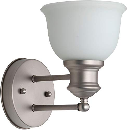 Craftmade 19805BN1-WG Light Rail Wall Sconce Lighting, 1-Light, 100 Watts, Brushed Satin Nickel (6