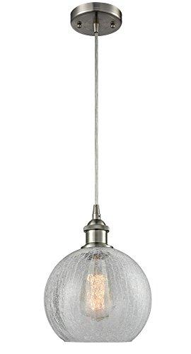 Crackle Glass Globe Pendant Light in US - 5
