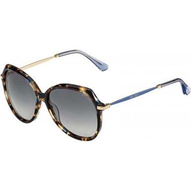 833ad45b4b99 Jimmy Choo 2167887VV58HD Ladies Kizzi-S 7VV HD Azure - Havana Pattern  Sunglasses