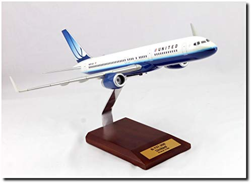 Planejunkie Aviation Desktop Model - B-757 United Airlines Wood - United Boeing 757 Airlines