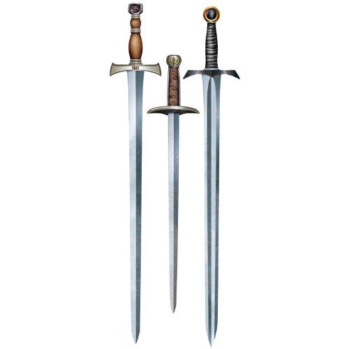 Medieval Sword Cutouts 3 Pkg