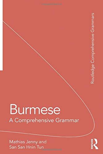 Burmese Lessons - Burmese (Routledge Comprehensive Grammars)