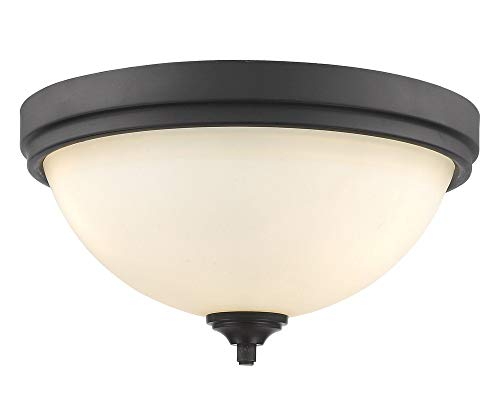 Z-Lite 435F3-BRZ 3 Light Flush Mount, Bronze