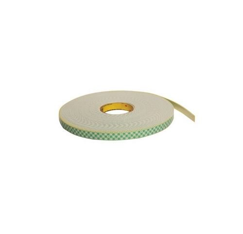 3M Double Coated Urethane Foam Tape 4026 Natural, 1/2 in x 36 yd 1/16 in (Pack of 1)