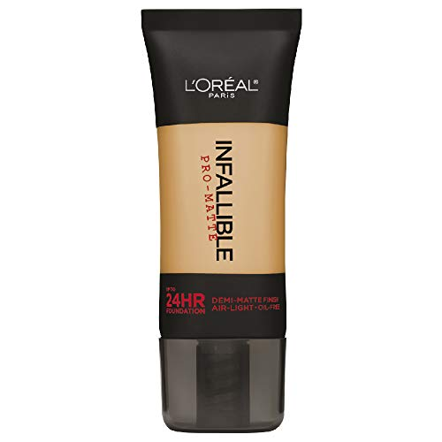 L'Oréal Paris Infallible Pro-Matte Liquid Longwear Foundation Makeup, 106 Sun Beige, 1 fl. oz.